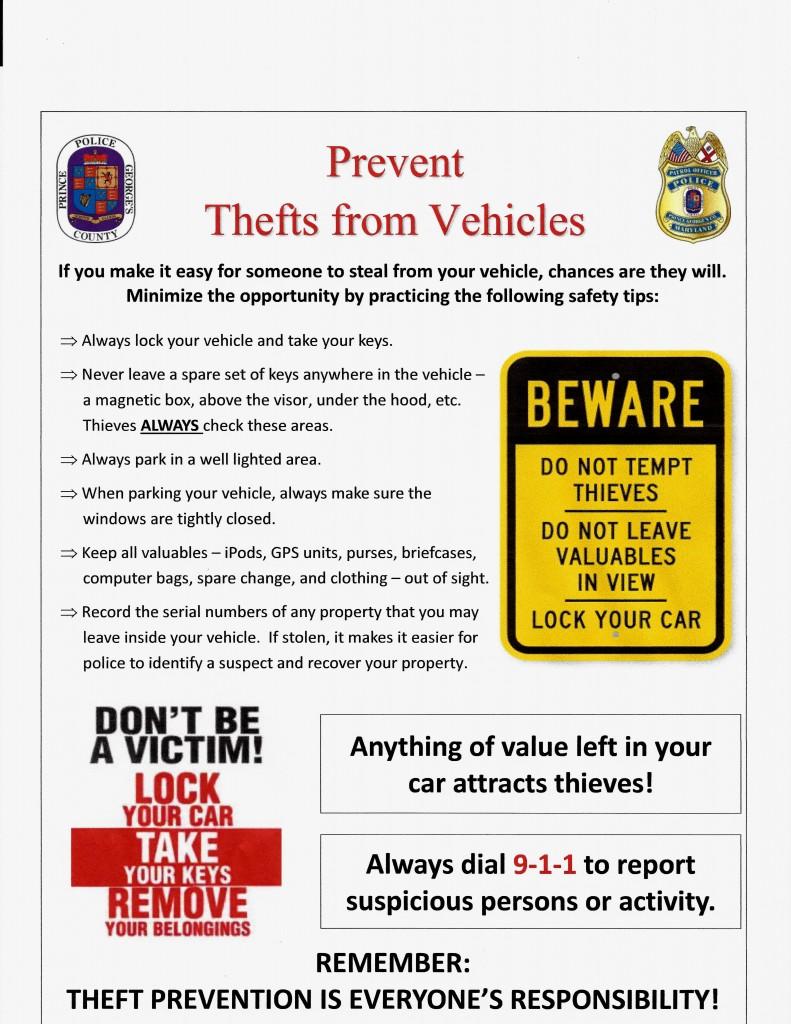 prevent vehicle theft