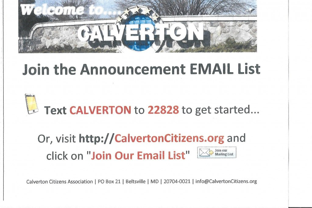 Join CCA's Email List